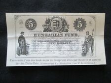 Facsimile delle banconote del prestito emesso da Kossuth Incisione del 1894