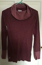 ATHLETA # 930304  HIGH TRAIL COWL NECK STRIPED YOGA SPORT SHIRT TOP XS SOLD OUT