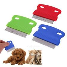 3pcs Trimmer Grooming Steel Teeth Brush Comb Hair Shedding Flea For Pet Cat Dog