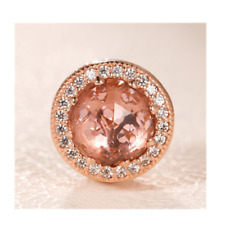 Genuine Rose Gold PANDORA Blush Pink Radiant Heart Charm 781725NBP ALER