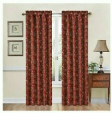 One Traditions By Waverly Navarra Crimson Floral Window Curtain 2 Panels