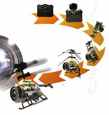Remote Control Helicopter Nano Spy Camera Video Gold Black Silverlit rc