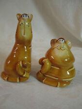 Cute Cartoon Cheshire Tabby Cats Salt & Pepper Shakers (? Disney characters ?)