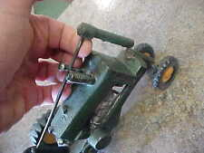 """Older cast iron green yellow tractor metal 8"""" L x 4"""" H x 4"""" W"""