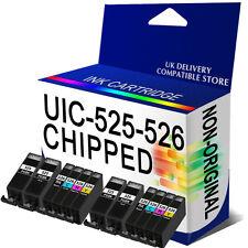 12 Chipped Ink Cartridge for MG5320 MG5350 MG6150 MG6220 MG6250 PGI525 CLI526