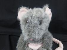 Gray White Pink Possum Long Tail Pouch Marsupial Plush Stuffed Animal Toy