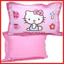 Sanrio Hello Kitty Pillow Cover with Cushion Pink Bedding 100% Cotton 24""