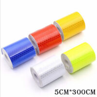 Car Truck Reflective Self-adhesive Safety Warning Tape Roll Film Sticker Tool
