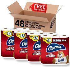 Charmin Ultra Strong Toilet Paper, 4 Pack, Total 48 Mega Roll - 192 Regular Roll