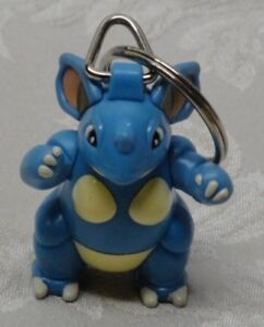 NIDOQUEEN 031 Drill Pokemon Poison Keychain Burger King Happy Meal 1999 Vtg Rare