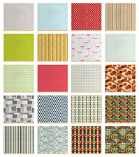 Ambesonne Retro Elements Fabric by the Yard Decorative Upholstery Home Accents