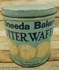 Antique Uneeda Bakers Butter Wafer Tin National Biscuit Company Advertising