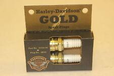 HARLEY DAVIDSON OEM NEW GOLD SPARK PLUGS 32356-94