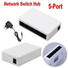 5-Port RJ45 10 / 100Mbps Netzwerk Switch HUB LAN Ethernet Netzwerkadapter Tool