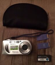 Sony Cyber-shot 3.2 MP DSC-P8 Digital Camera (Silver) w/ Battery 2 Memory Stick
