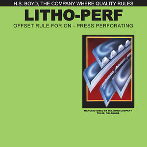 HS Boyd Litho-Perf 20-Foot Roll 16 Tooth CARD #815 Side Series Rules
