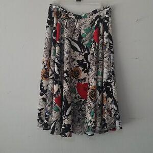 NWT ModCloth Dupenny Ikebana For All Aline Skirt