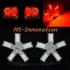 3157 3057 T25 5 Arms Spider 40 SMD LED Back up/Tail/Brake Light Bulbs Red