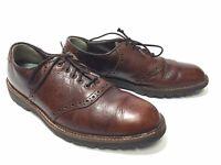 Dexter Oxford Men 9 M Brown Leather Lace Up USA Vintage