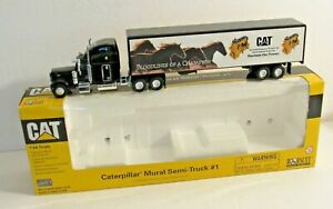 Caterpillar Mural #1 Peterbilt Semi-Truck 1:64  NORSCOT Die-Cast Replica #55079
