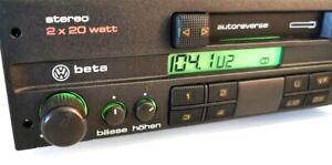 Original VW Beta 3 III  HE2 357035152B  Stereo Rarität  Gelbe Taste