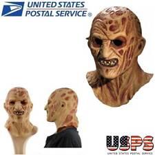 Halloween Latex Mask Freddy Krueger Adult Scary Cosplay Costume Fancy Us Ship