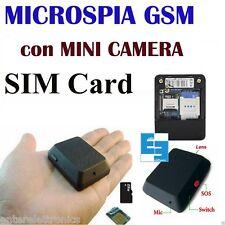 MICROSPIA GSM SPIA AUDIO VIDEO INTERCETTAZIONE   AMBIENTALE CIMICE MICRO-SD X009