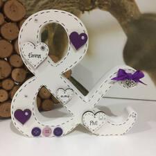 Personalised Freestanding Wooden Letter, Wedding Ampersand, Mr & Mrs Bride Groom