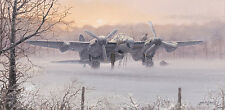 P West de Havilland Mosquito print Wings of Dawn signed by decorated RAF pilot
