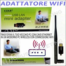 ADATTATORE 150Mbps USB WLAN ANTENNA 5 dBi WI FI WIRELESS LAN STICK INTERNET