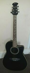Applause by Ovation Acoustic Electric Roundback Guitar - Black