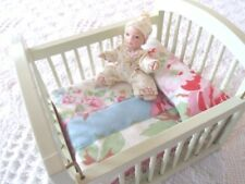 Dolls House Bedding COT SET 1/12th Patchwork Quilt Handmade Cath Kidston Fabric