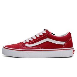 Womens&Mens VAN S Old Skool Skater Classic Canvas Running Sneakers Trainers Red