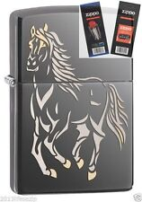 Zippo 28645 galloping horse Lighter with *FLINT & WICK GIFT SET*