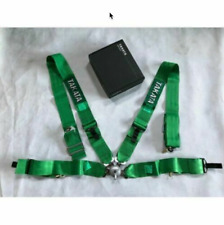 "Takata 4 Point Snap-On 3"" With Camlock Racing Seat Belt Harness Universal Green"