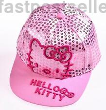 New Kids Girls Kitty Snapback Baseball Cap Hat Adjustable Gift Accessory