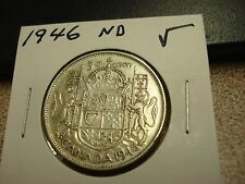 1946 - ND - Canada High Grade 50 cent silver coin - Canadian half dollar