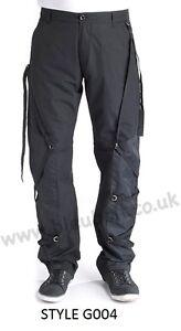 Bleubolt Gothic Goth Punk Emo Rock Bondage Pants with Buckles/Straps