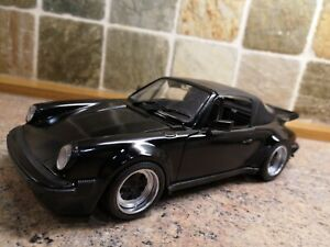 VINTAGE 1 16  SCALE PORSCHE 911 TURBO CABRIOLET 930 MODIFIED TO TRIPLE BLACK  .