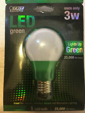 FEIT Electric 3 watts A19 LED 450 lumens Green 30W Equiv Bulb *FAST SHIPPING