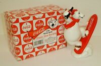 1995 Coca-Cola Always Snow Boarding Polar Bear Figurine (New In Box) Enesco Vtg