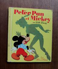 1955 Enfantina Peter Pan et Mickey Disney Albums Rose livre enfants
