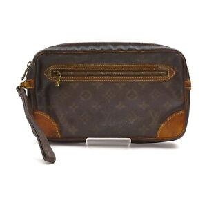 Louis Vuitton LV Clutch Bag Marly Dragonne GM M51825 Browns Monogram 1428693