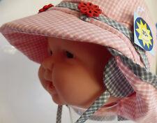 UV Schutz KU40 41 42 43 44 Sterntaler Nackenschutz Sonnen Sommer Hut Mädchen rot