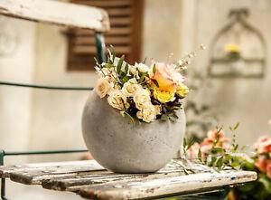 Vase  Pflanz - Kugel Beton Betonkugel Garten Shabby Chic Frühling Blumen
