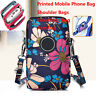 Fashion Cross-body Printed Shoulder Bag Cellphone Coin Purse Polyester