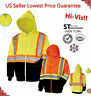 Hi Vis Hoodies Zip Front Sweatshirt Class 3 Safety Road Work HIGH VISIBILITY