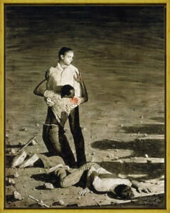 Framed Norman Rockwell Murder in Mississippi Giclee Canvas Print Painting Poster