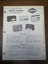 OEM Philco Service Manual~G-820 G-822 G-824 G-826 G-828 Radios~Original