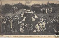 Art - cartolina - Il culto di L'Agnello Mistico dai fratelli VAN EYCK